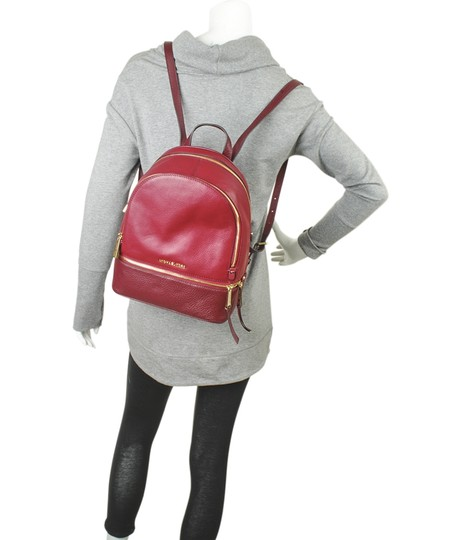 Michael Kors Michael Kors Rhea Red Leather Backpack (167720) Image 1
