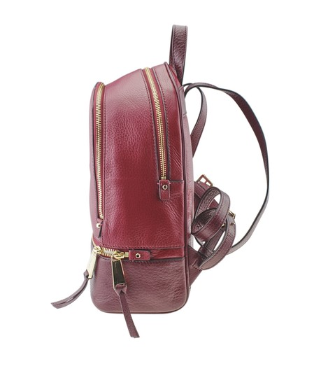 Michael Kors Michael Kors Rhea Red Leather Backpack (167720) Image 3