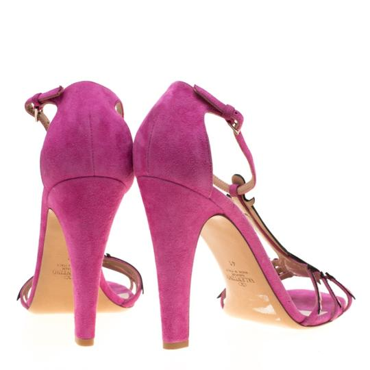 Valentino Suede Leather Pink Sandals Image 4