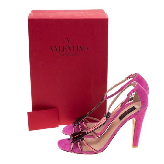 Valentino Suede Leather Pink Sandals Image 7