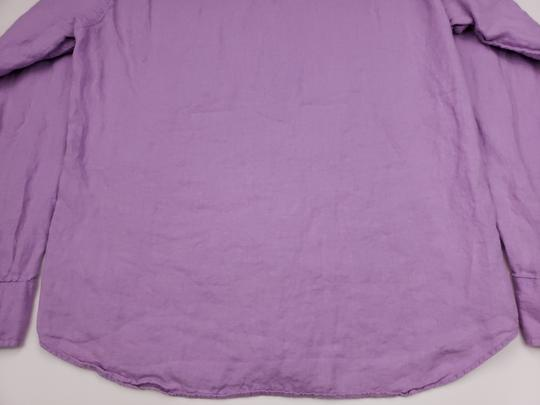 J.Crew Purple Slim Fit Medium Irish Linen Baird Mcnutt Light Lav Shirt Image 11