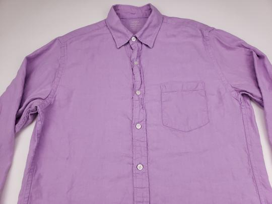 J.Crew Purple Slim Fit Medium Irish Linen Baird Mcnutt Light Lav Shirt Image 5