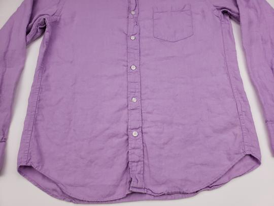 J.Crew Purple Slim Fit Medium Irish Linen Baird Mcnutt Light Lav Shirt Image 9