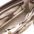 Gucci Patent Leather Fabric Tote in Brown Image 6