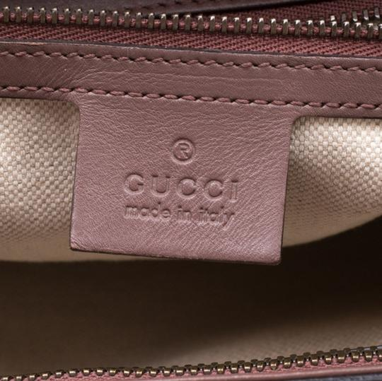 Gucci Patent Leather Fabric Tote in Brown Image 9