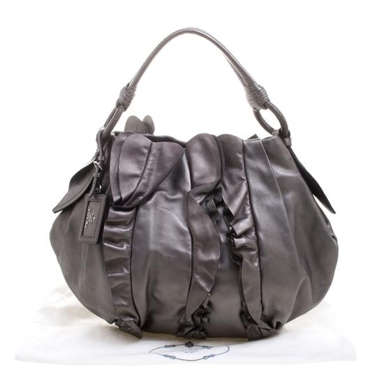 Prada Leather Hobo Bag Image 9