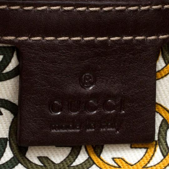 Gucci Print Velvet Satchel in Brown Image 9