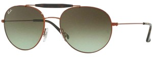 Ray-Ban Crystal Green Gradient Lens RB3540 9002/A6 Unisex Aviator