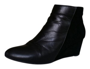 Aquatalia by Marvin K. Water-resistant Wedge Suede Leather Black Boots