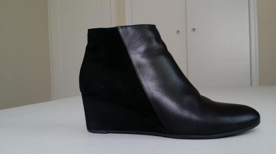 Aquatalia Water-resistant Wedge Suede Leather Black Boots