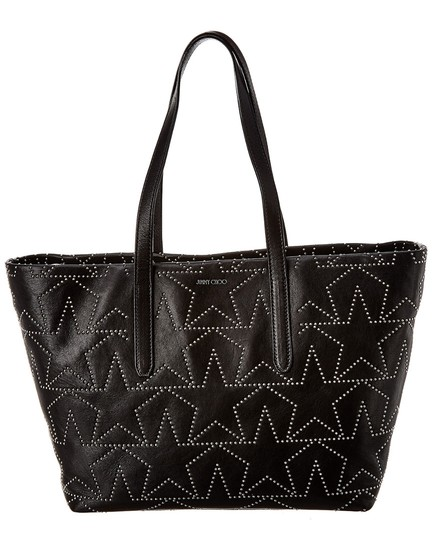 Preload https://img-static.tradesy.com/item/26769564/jimmy-choo-sofia-latte-leather-black-tote-0-0-540-540.jpg