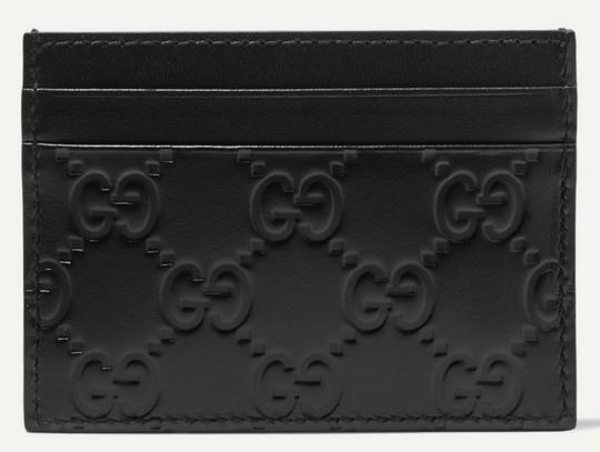 Gucci NEW GUCCI BLACK LOGO GG CARD HOLDER CASE ID WALLET Image 1