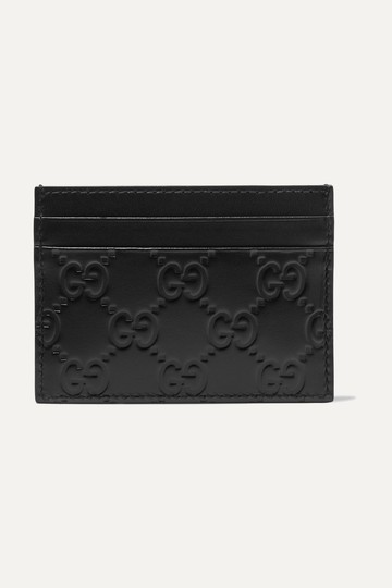 Gucci NEW GUCCI BLACK LOGO GG CARD HOLDER CASE ID WALLET Image 3