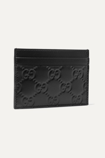 Gucci NEW GUCCI BLACK LOGO GG CARD HOLDER CASE ID WALLET Image 5