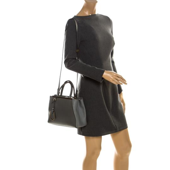 Fendi Leather Tote in Grey Image 1