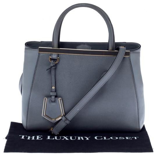 Fendi Leather Tote in Grey Image 10
