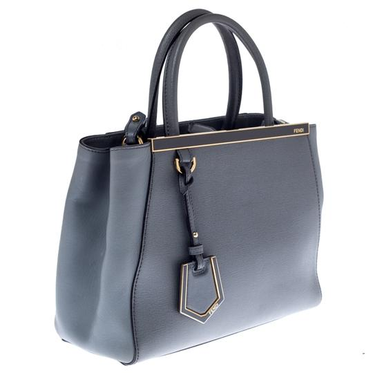 Fendi Leather Tote in Grey Image 2