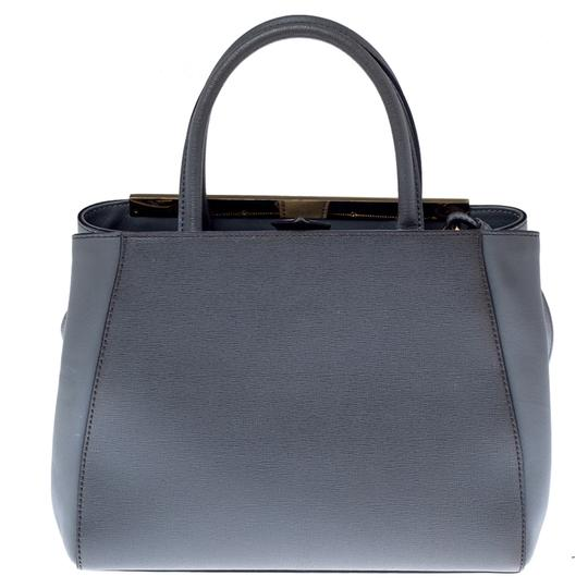 Fendi Leather Tote in Grey Image 5