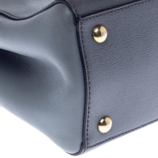 Fendi Leather Tote in Grey Image 6