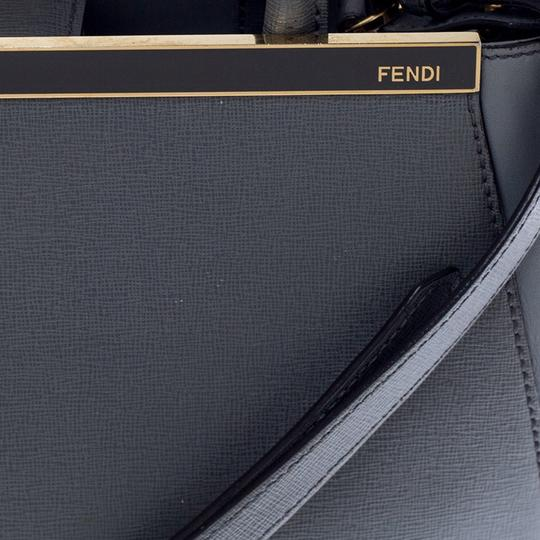 Fendi Leather Tote in Grey Image 8