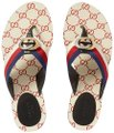 Gucci Flats Gg Logo white red Sandals Image 0