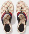Gucci Flats Gg Logo white red Sandals Image 11