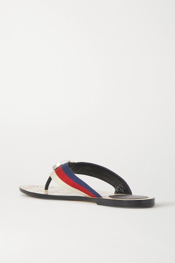 Gucci Flats Gg Logo white red Sandals Image 6