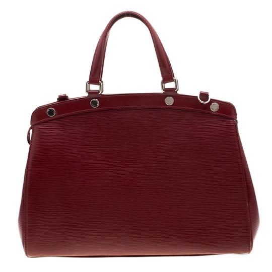 Louis Vuitton Leather Fabric Satchel in Red Image 1