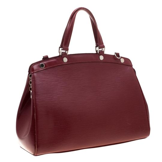 Louis Vuitton Leather Fabric Satchel in Red Image 3