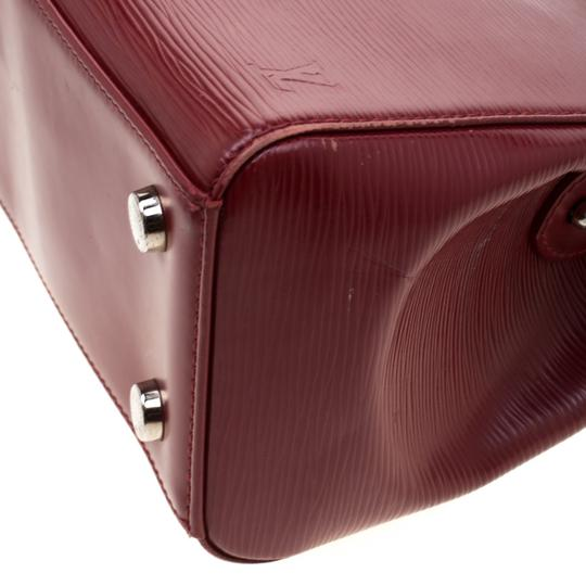 Louis Vuitton Leather Fabric Satchel in Red Image 6