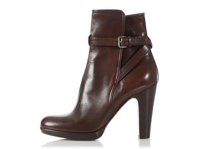 Item - Brown Leather Ankle Boots/Booties Size EU 39 (Approx. US 9) Regular (M, B)