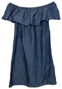 Soft Joie short dress blue Nilima Chambray Offtheshoulder on Tradesy