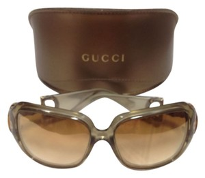 Gucci AUTHENTIC GUCCI Sunglasses GOLD With Bamboo WITH CASE