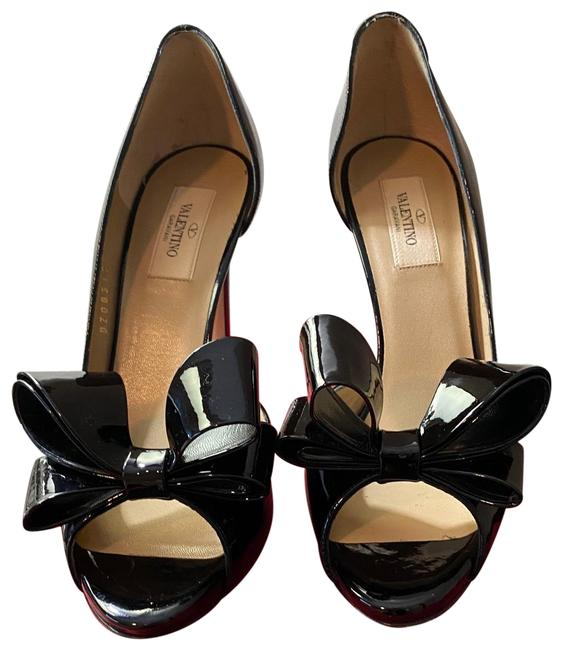 Item - Black Patent Ysl Bow Heels Platforms Size EU 39 (Approx. US 9) Regular (M, B)