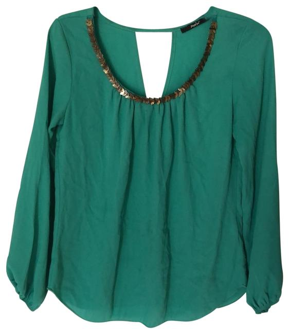 Item - Teal B2968 Blouse Size 4 (S)