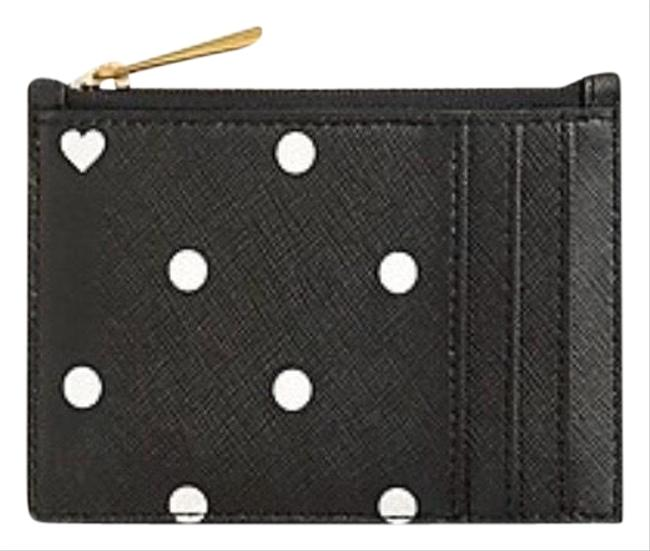 Item - Black Coin and Card Case In Heart Dot