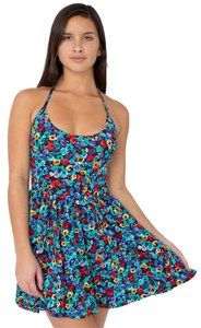 American Apparel short dress Floral Summer Sundress Classic Halter Halter Aa Minidress on Tradesy