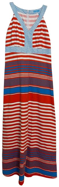 Item - Red Blue White Long Casual Maxi Dress Size 0 (XS)
