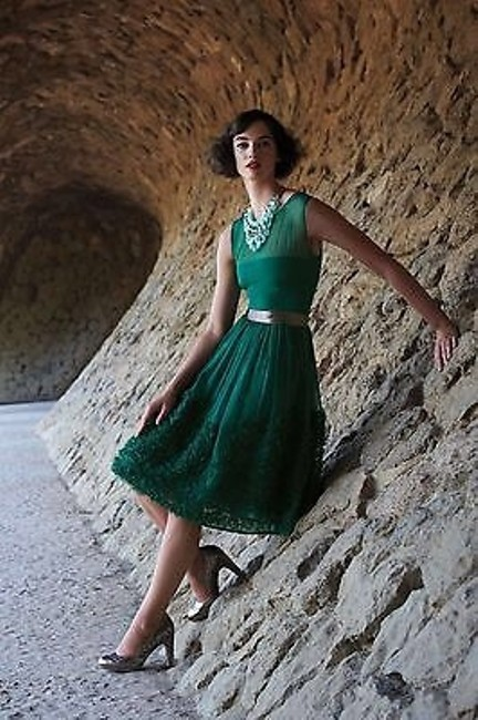 Item - Green Cardidad Mid-length Night Out Dress Size 4 (S)