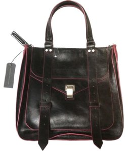 Proenza Schouler Ps1 Leather Tote in Black and Red