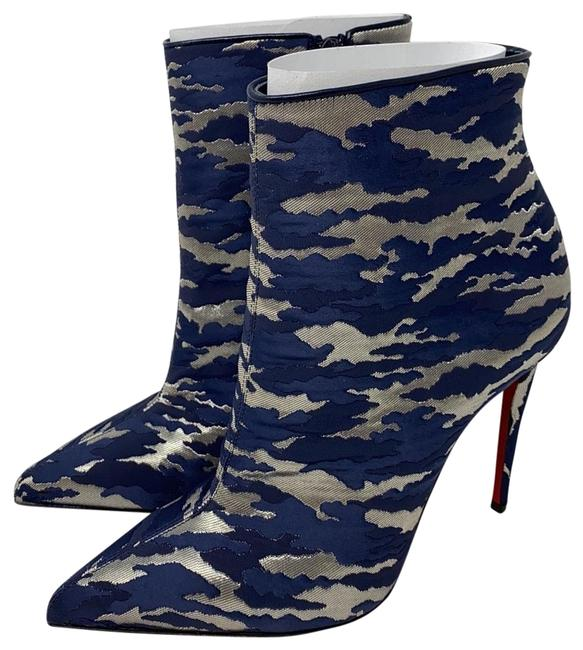 Item - Blue Silver New So Kate 100 Jq Camouloubi Boots/Booties Size EU 37.5 (Approx. US 7.5) Regular (M, B)