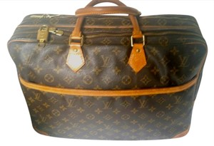 Louis Vuitton Rare Vintage Travel Briefcase Monogram Canvas Travel Bag