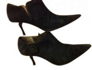 A. Marinelli Black Suede Boots