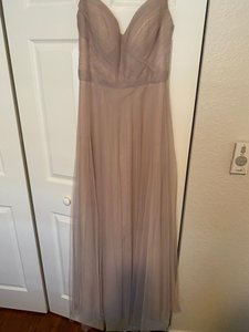 Watters Nude/Taupe Formal Bridesmaid/Mob Dress Size 8 (M)