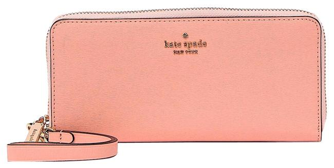 Item - Pink with Tag Connie Slim Leather Continental Wallet