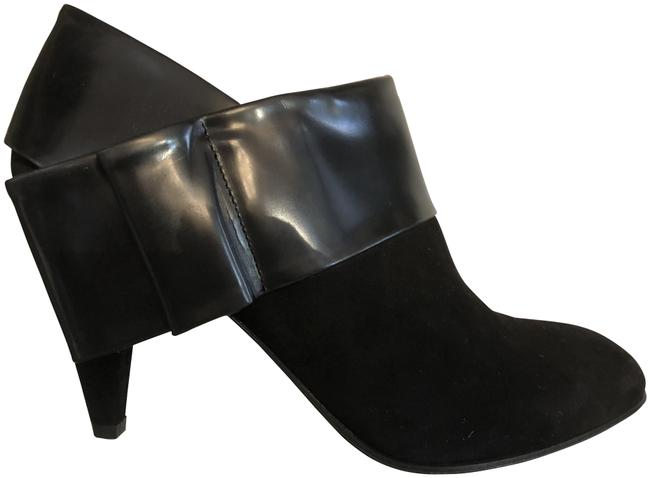 Item - Black W Suede Ankle W/ Chunky Pointed Heels Boots/Booties Size US 10 Regular (M, B)