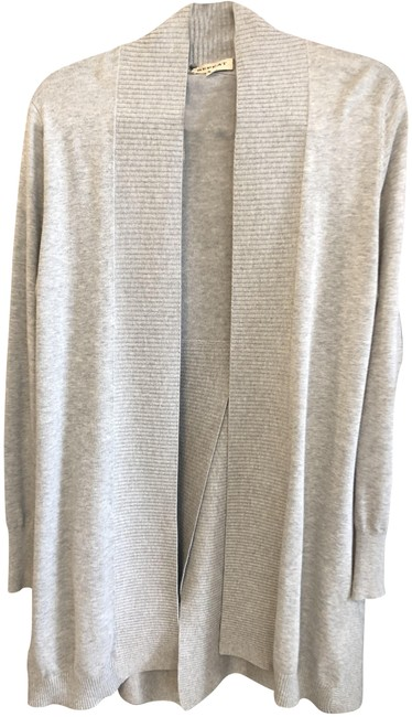 Item - Gray Cotton Blend Open Front Cardigan/Sweater Style#82077s161 Cardigan Size 4 (S)