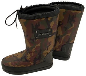 Moschino Camouflage Green Boots