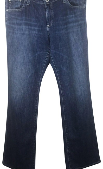 Item - Blue Dark Rinse The Angelina Petite Boot Cut Jeans Size 31 (6, M)