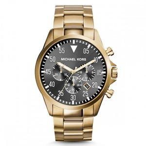 Michael Kors $275 NWT Michael Kors Men's Gold-Tone Gage Watch MK8361